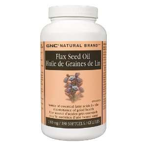 GNC Natural Brand Flax Seed Oil