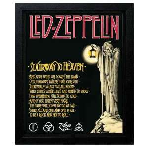 Led Zeppelin Stairway To Heaven 8 x 10 Framed Print