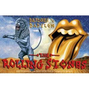 THE ROLLING STONES BRIDGES TO BABYLON STICKER