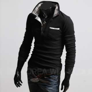 New Mens Fashion Designed Casual Shirts Black Color
