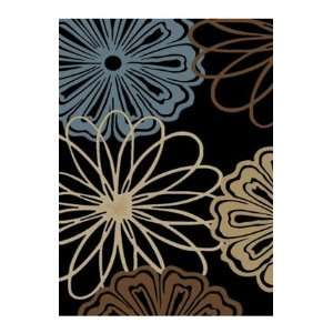 Infinity Home Source Mandly 7 10 x 9 10 black Area Rug
