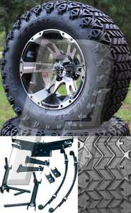 Club Car DS Golf Cart Lift Kit Tire and Wheel Combo   1982 2003.5   23