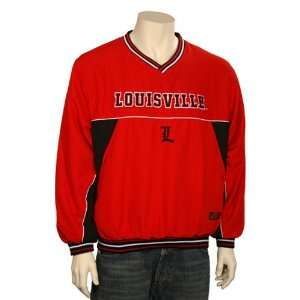 Louisville Cardinals Red Time Out Pullover Jacket Sports