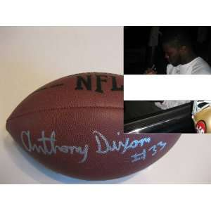ANTHONY DIXON SAN FRANCISCO 49ERS,SIGNED NFL FOOTBALL WITH