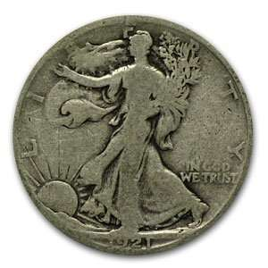 1921 S Walking Liberty Half Dollar (Good) Toys & Games