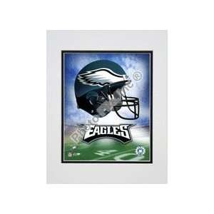 Philadelphia Eagles Helmet Logo Double Matted 8 X 10