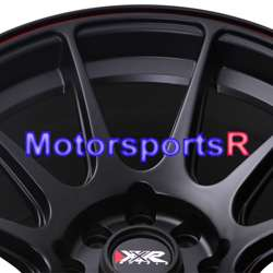 15 8 XXR 527 Black Red Stripe Concave Rims Wheels Stance 89 94 Nissan