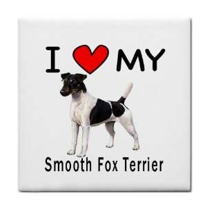 I Love My Smooth Fox Terrier Tile Trivet