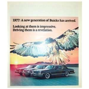 1977 BUICK Sales Brochure Literature Book Piece