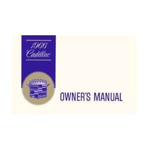 1966 CADILLAC Full Line Owners Manual User Guide