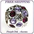 Silver Charms, Murano Glass Charms items in purples world dream store