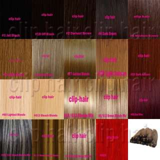 CLIP IN REMY REAL HUMAN HAIR EXTENSIONS Full&Half Head 15 18 20 22