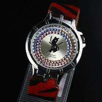HOT Cat Red Leather Animal Print LadiesTrendy Watch US