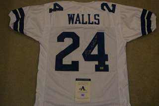 EVERSON WALLS SIGNED AUTO DALLAS COWBOYS JERSEY  AAA