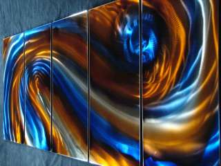 METAL MODERN PAINTING ABSTRACT WALL ART SCULPTURE LARGE