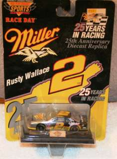 1996 RUSTY WALLACE #2 MILLER GENUINE DRAFT SILVER 164