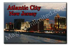 Atlantic city   New Jersey Souvenir Fridge Magnet #3