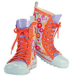 Flower Petal Rain Boots girls kids children shoes boots floral purple