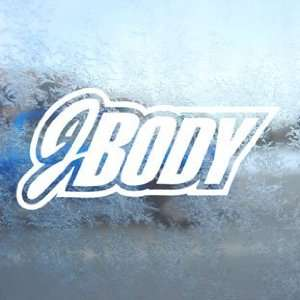 Jbody White Decal Car Window Laptop Vinyl White Sticker