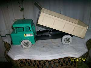VINTAGE MARX POWERHOUSE DUMP TRUCK MADE IN USA SLIGHTLY USED NO