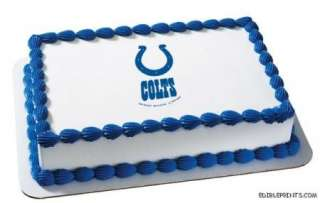 Indianapolis Colts Edible Image Icing Cake Topper