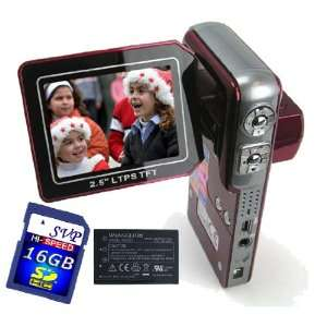 with 2.5 TFT LCD Monitor (Free 16GB SDHC Card & 2 Li ion batteries