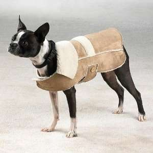 Faux Suede Dog Coat, size Med, #zw423 M