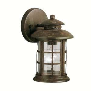 Kichler Lighting Kichler 9759RST Rustic 1 Light Outdoor Wall Lantern