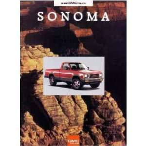 1993 GMC SONOMA Sales Brochure Literature Book Piece