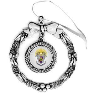 Sigma Pi Pewter Holiday Ornament