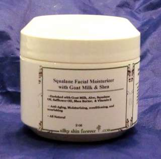 Squalane Face Moisturizer Goat Milk Shea Butter Anti Aging Wrinkle