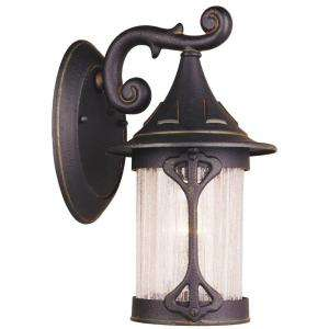 Hampton Bay Wall Mount Outdoor Rustic Iron Lantern  DISCONTINUED
