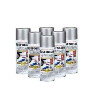 Rust Oleum Stops Rust 11 Oz. Gloss Silver Metallic Spray Paint (6 Pack