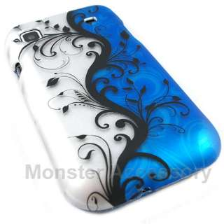 Blue Flowers Hard Case Cover For Samsung Galaxy S i9000