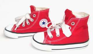 CONVERSE Classic Red Baby Toddler Boys Girls Shoes Sneakers 5 High