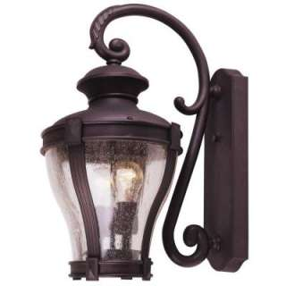 Hampton Bay Wall Mount 2 Light Outdoor Bronze Lantern  DISCONTINUED