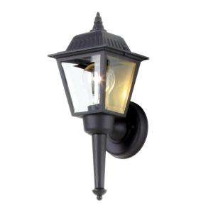 Hampton Bay Black 1 Light Outdoor Wall Lantern BPL1611 BLK at The Home