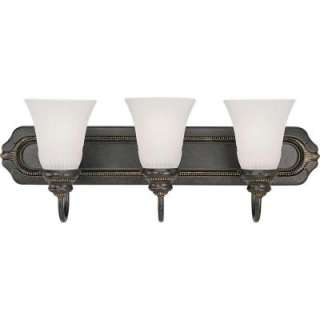Lighting Huntington Collection Forged Bronze 3 Light Vanity Fixture