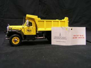 1960 Mack B61 Dump Truck and Display Franklin Mint 143 Scale
