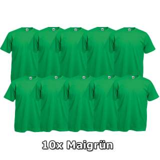 10x FRUIT OF THE LOOM T Shirts Gr. S M L XL XXL XXXL 3XL