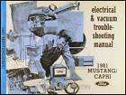 1981 Ford Mustang Capri Electrical and Vacuum Troubleshooting Manual