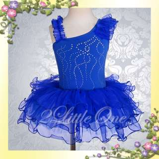 Blue Girl Ballet Tutu Dance Costume Dress Size 3T 4T