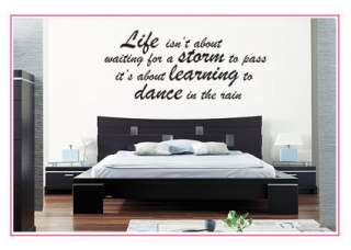 Life, Storm, Dance   Bedroom Wall sticker decal quotes