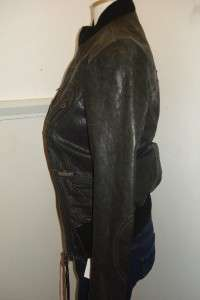 REPLAY WOMENS BLACK LEATHER JACKET RRP £390.00 BNWT