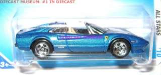 FERRARI 308 GTS BLUE HOT WHEELS 2010 DIECAST 164