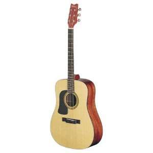 Washburn D10SLH Left Handed Dreadnought Acoustic Guitar