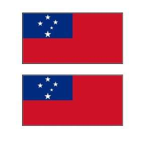Samoan Flag Stickers Decal Bumper Window Laptop Phone Auto Boat Wall
