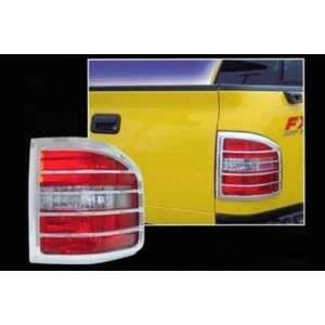 04 08 FORD F150 FLARESIDE Chrome Tail Light Covers Automotive