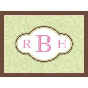 New Items   Pretty Monogram Note Card