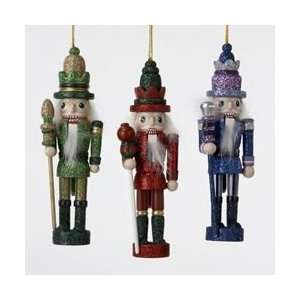 Red, Purple & Green Nutcracker Christmas Ornaments